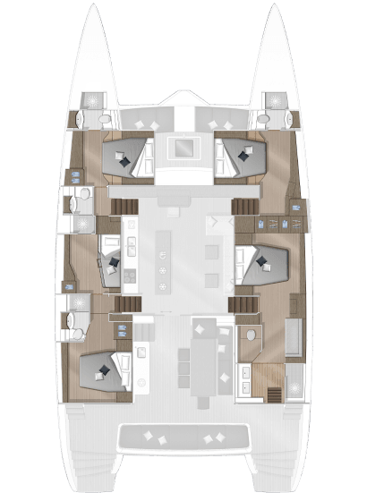 Room plan Catamaran