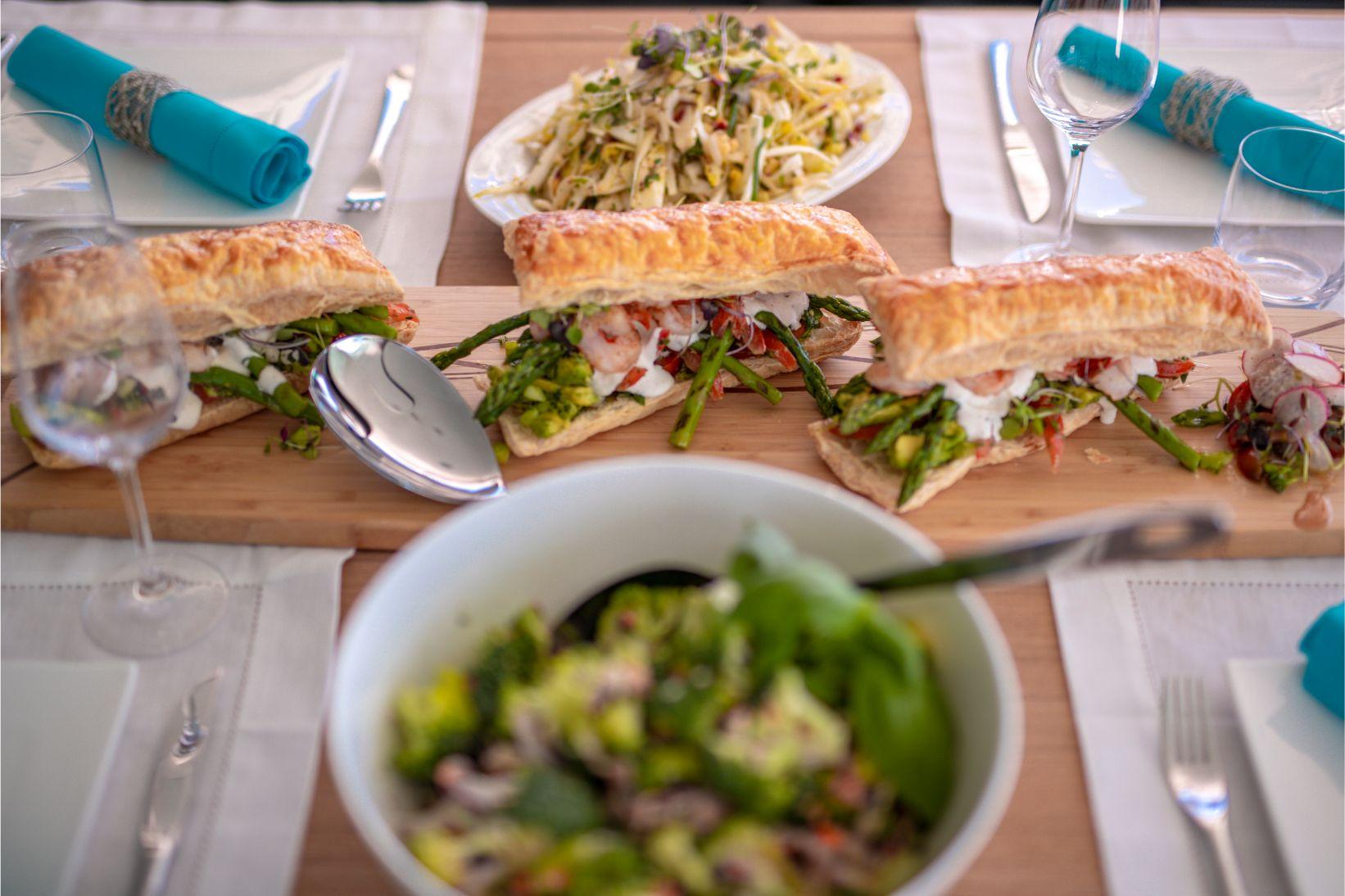Plateau de sandwich gastronomiques