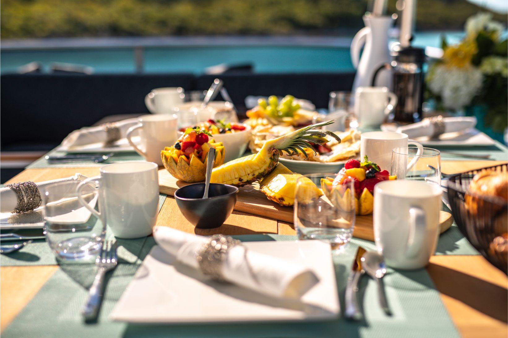 Déjeuner gastronomique sur croisière privée aux Bahamas