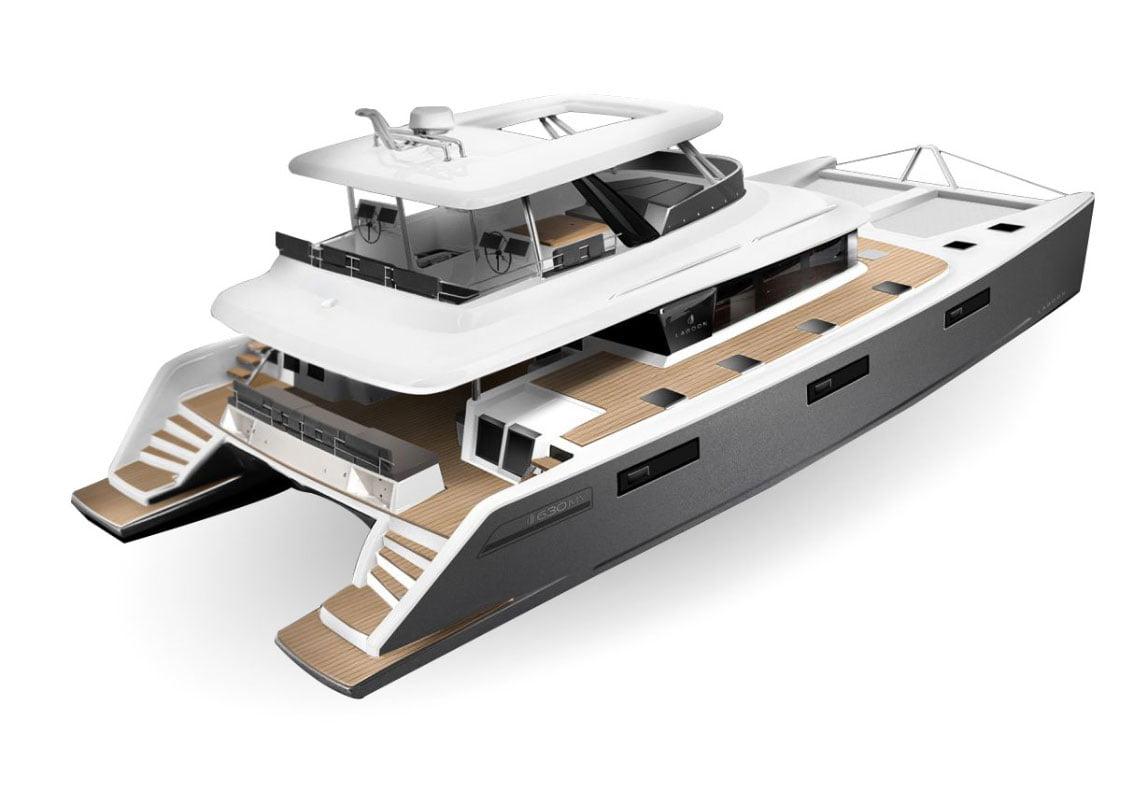 Rendu 3D Catamaran à moteur Serenity   Bateau de Marc Saulnier   Serenity Navigation